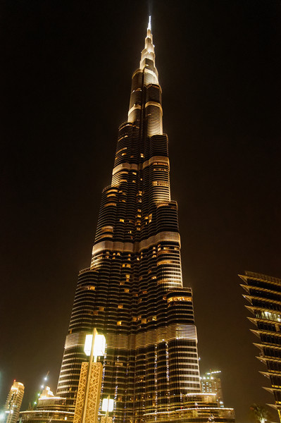 BURJ KHALIFA — THE TALLEST BUILDING IN THE WORLD<br /> <br /> This is a skyscraper in Dubai, United Arab Emirates, and is the tallest manmade structure in the world, at 2,723 ft.